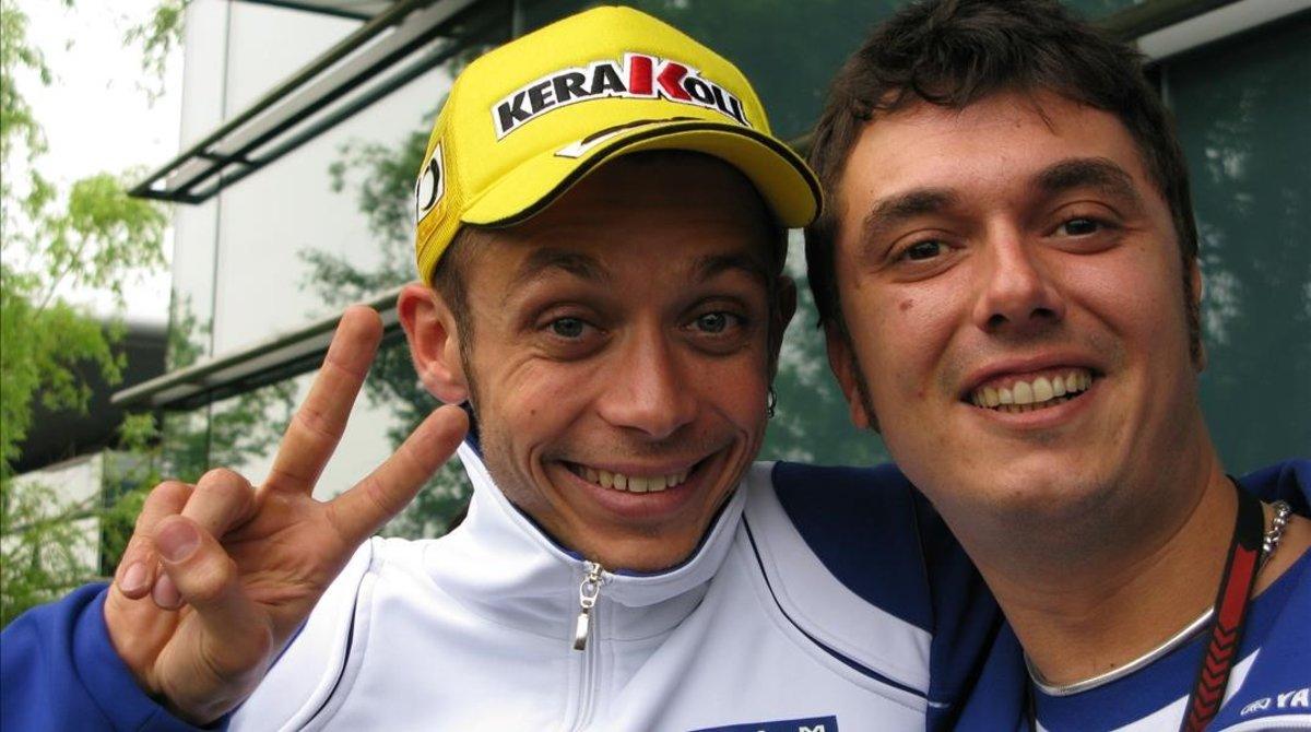 Valentino Rossi y Uccio Salucci, en una imagen de hace ya varios años.