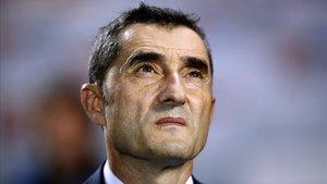 Valverde, en Butarque donde el Barcelona encajó la primera derrota de la temporada.