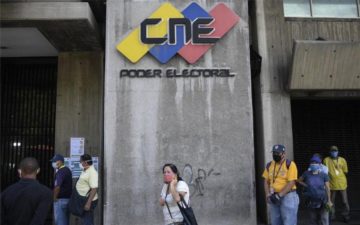 Edifico delConsejo Nacional Electoral de Venezuela.