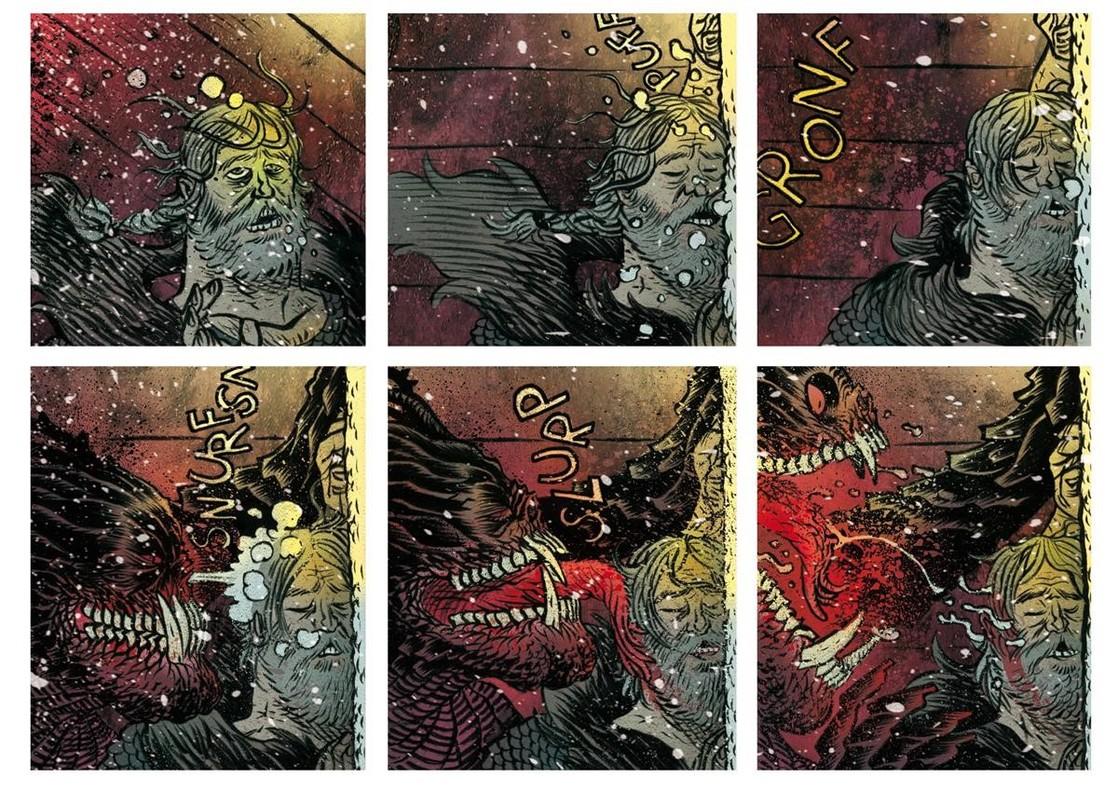 Viñetas de Beowulf.