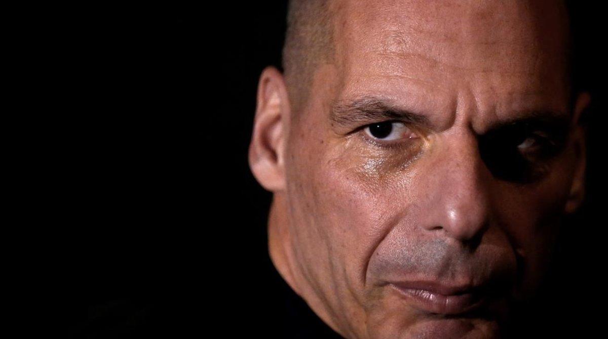 Yannis Varoufakis, el domingo en Berlín.