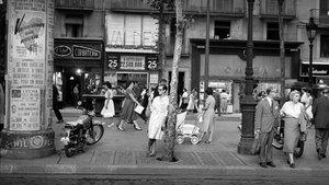 Las Ramblas y Karin, 1959.
