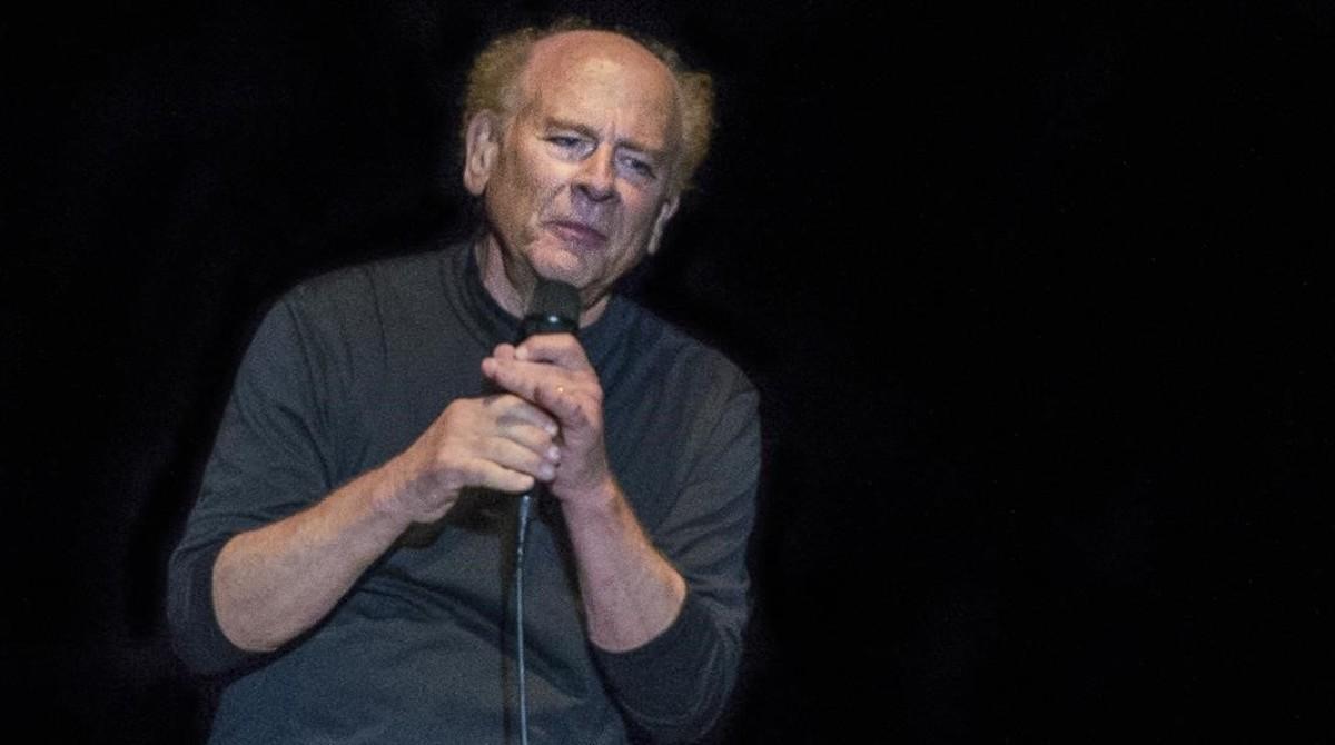 Art Garfunkel, durante el concierto del viernes en el Festival Jardins de Pedralbes.