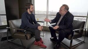 Ricard Ustrell y Alex Salmond, en el programa de TV-3 Quatre gats.