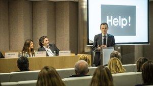 Pedro Duque, en la presentación de la asociación 'Help', el pasado miércoles 6 de marzoen Madrid.