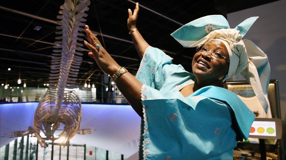 Elisabeth Rasekoala, inegniera quimica y divulgadora nigeriana,premio Nat 2019, en el Museu Blau