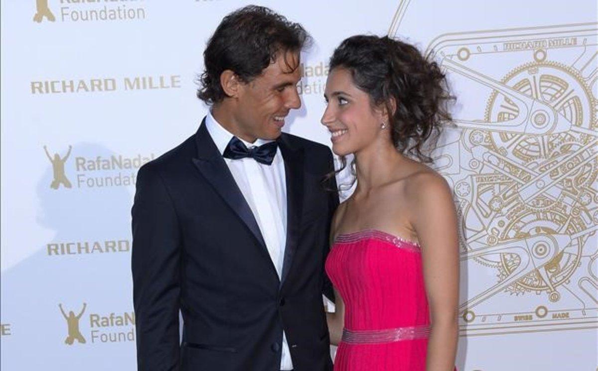 Rafa Nadal y Xisca Perelló, en una gala de la fundación del tenista.