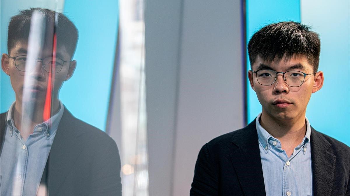 El líder dels estudiants de Hong Kong recolza un referèndum a Catalunya