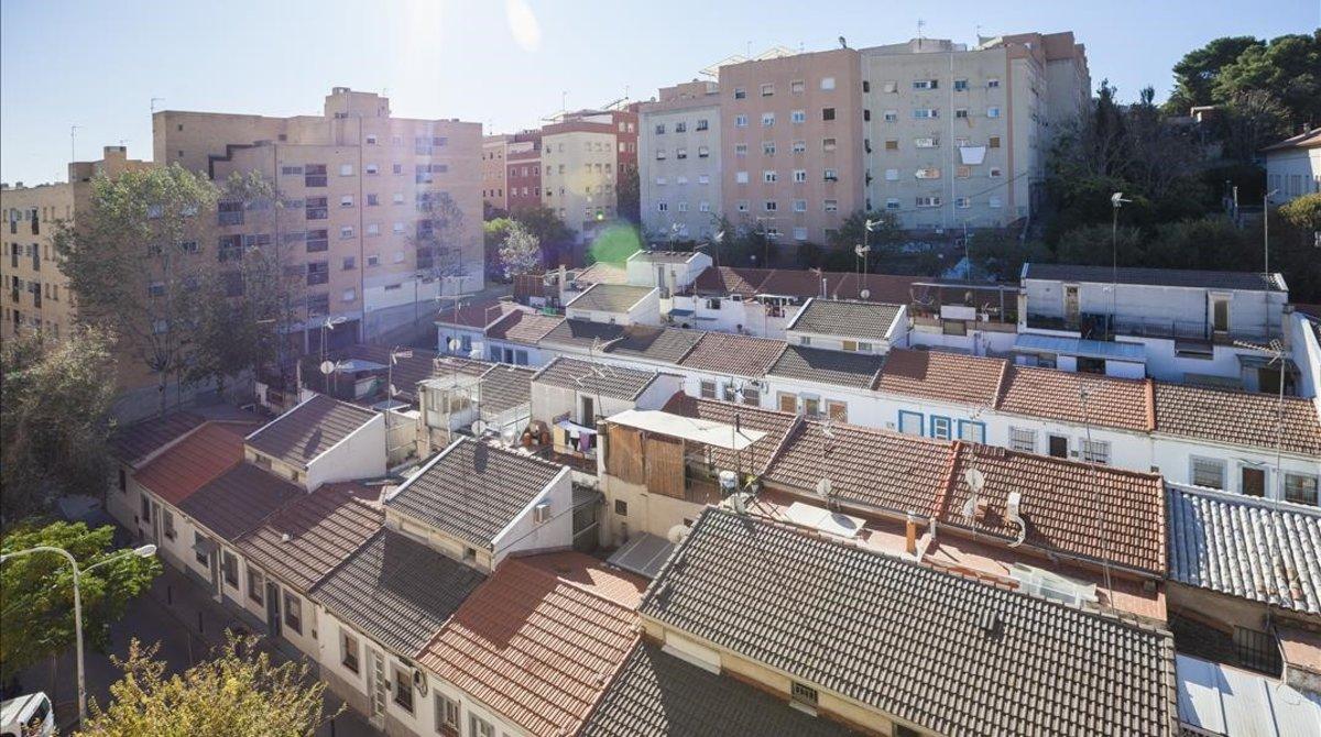 Vista general de Can Peguera, este martes.