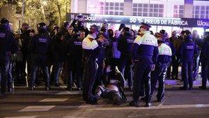 """""""Estem determinats a seguir manifestant-nos a la Meridiana malgrat les provocacions"""""""