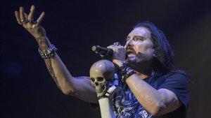 Jmes LaBrie, cantan te de Dream Theater, en el Sant Jordi Club, el miércoles.