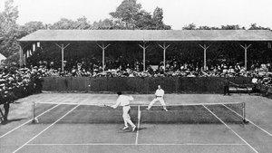 Wimbledon, 1919, un partido disputado por el mítico Anthony Wilding.