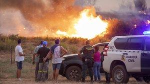 L'UME s'incorpora a les tasques d'extinció de l'incendi d'Almonaster