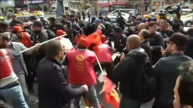 Desenes de detinguts en una manifestació de l1 de Maig a Istanbul