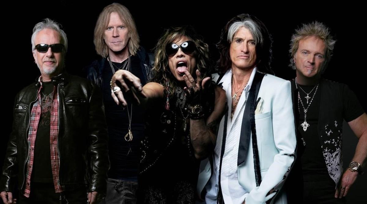 Foto promocional de Aerosmith.
