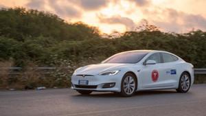 El Tesla Model S recorre 1.000 km de autonomía
