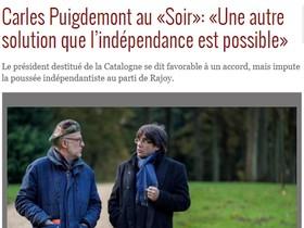 Entrevista a Carles Puigdemont en el diario Le Soir