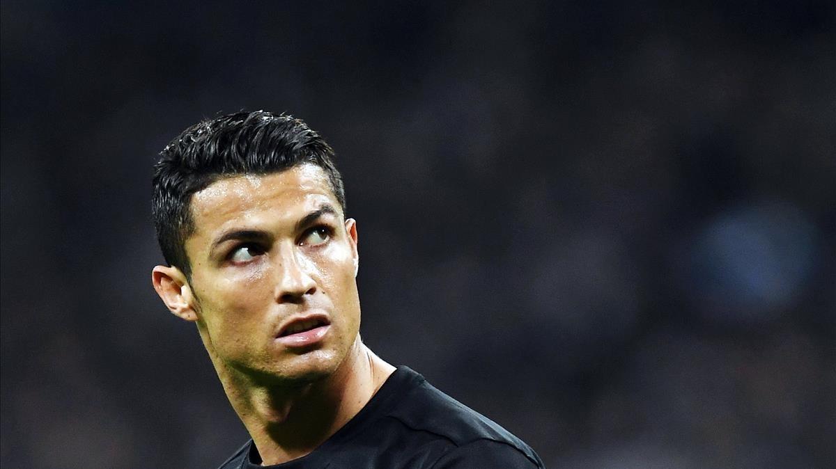 Cristiano Ronaldo, durante el partido del Madrid ante el Tottenham, en Wembley