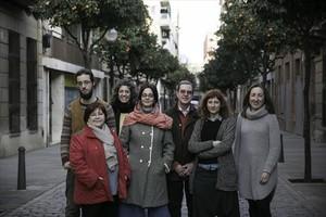 En familia 8Integrantes de la Associació dArtesans de Sant Andreu, creada hace año y medio.