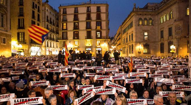 Manifestación por los cuatro meses de los políticos presos