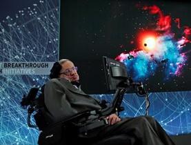 ESTRELLA MEDIÁTICA Hawking, en una rueda de prensa en el <br/>One World Trade Center, en Nueva York, el 12 de abril del 2016.