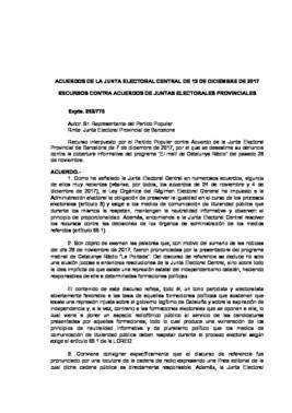 Acuerdo de la JEC