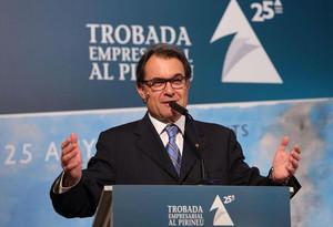 Artur Mas, durant la trobada amb empresari daquest divendres a la Seu dUrgell.