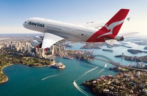 Un avión de la aerolínea Qantas.