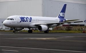 Un avión de Joon (Air France) en Roissy, Francia.