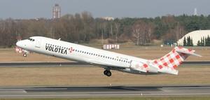 Un avión de Volotea.