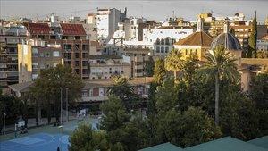 El barrio de Extramurs,e n el que se prepara la supermanzana de Valencia