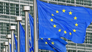 Banderes de la Unió Europea.
