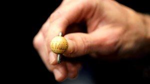 La bola con el premio gordo del Sorteo Extraordinario de Navidad.