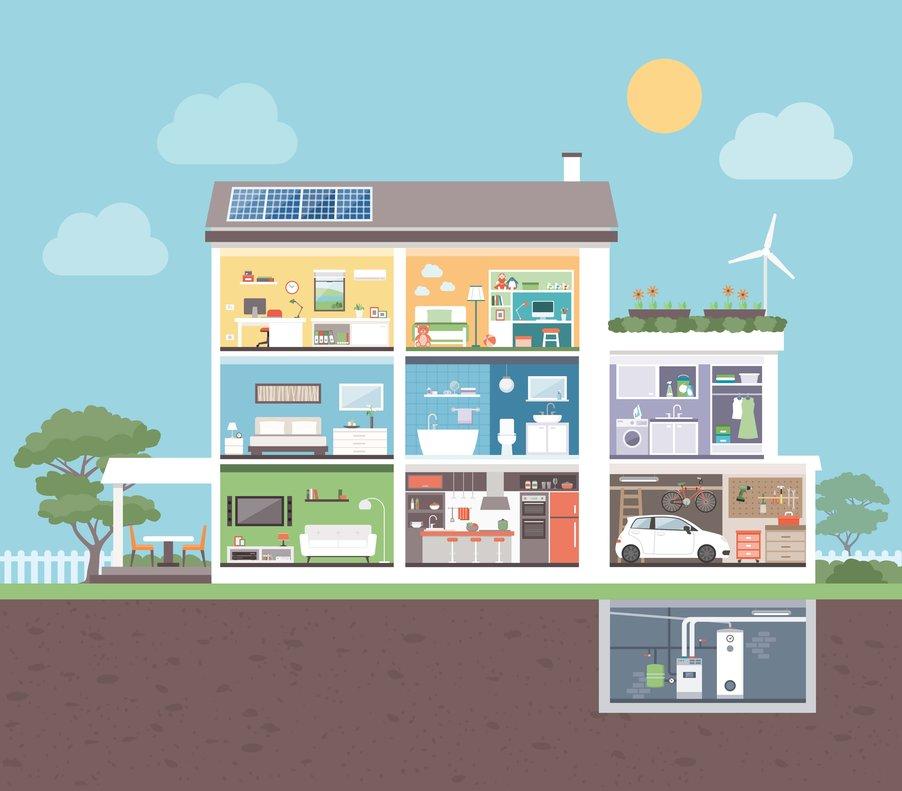 Una casa que ahorra usa de forma eficiente la energía.