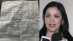 Cecilia Leonor Olivella es amenaza de muerte.