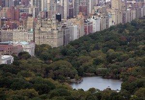 Vista aérea del Central Park de Nueva York.