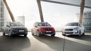 Coches de las marcas Peugeot, Citroën y DS, tres de las firmas del grupo automovilístico PSA.