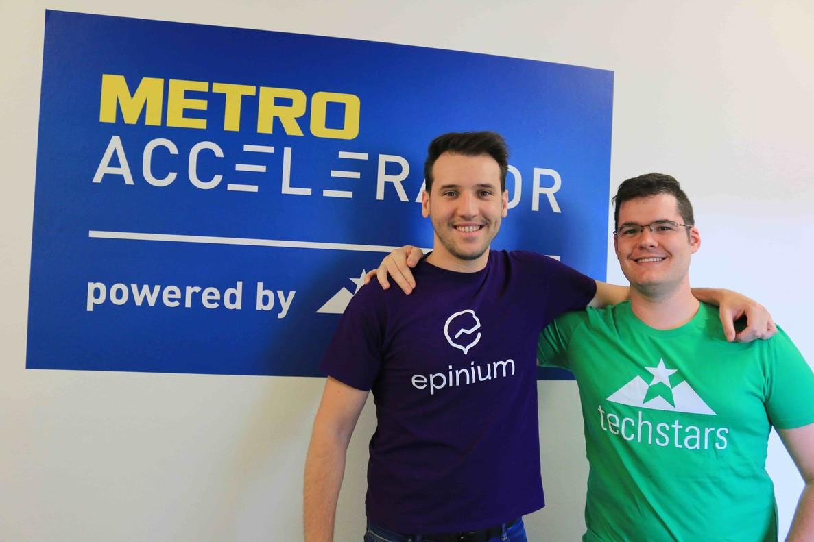 La empresa Epiniumen la edición del programa Metro Accelerator by Techstars