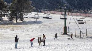 Estación de esquí de La Molina, en Girona.