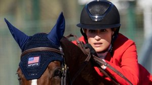 La estadounidense Jessica Springsteen, en el Real Club de Polo de Barcelona.