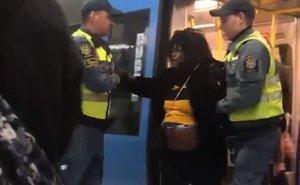 Una mujer embarazada es sacada de un tren a la fuerza en Suecia