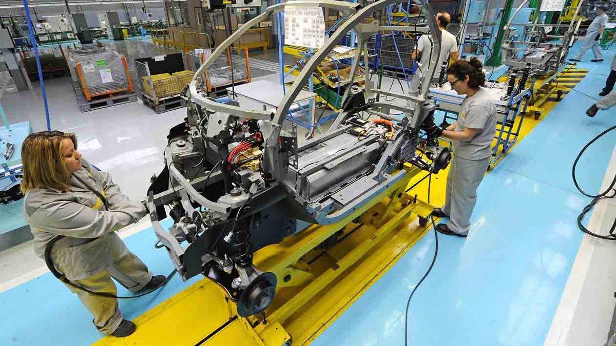 Fabricación del Twizy en Valladolid.