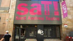 Fachada del SAT (Sant Andreu Teatre).