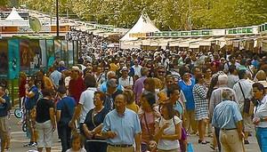 La Feria del Libro de Madrid, en el Retiro.
