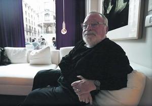 Fernando Savater, durante la entrevista, en Madrid.