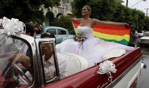 Imagen de una celebración de un matrimonio gay.