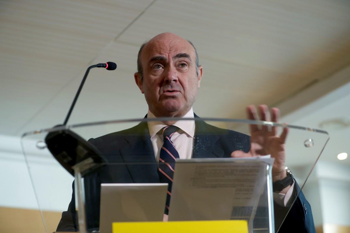 Luis de Guindosprometió dimitir como ministro de Economía si el próximo 22 o 23 de marzo es elegido vicepresidente del BCE.