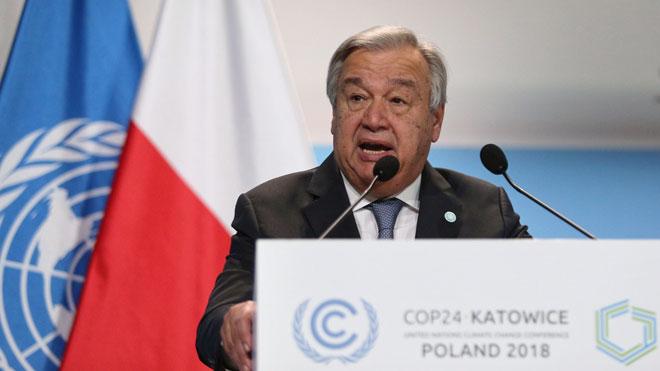 Guterres: Aún cuando somos testigos de los devastadores impactos climáticos, no estamos haciendo lo suficiente.