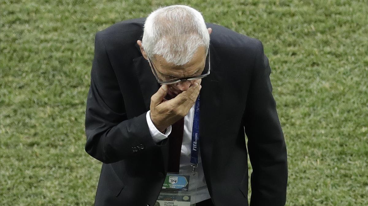 Héctor Cúper en un partido del Mundial de Rusia 2018