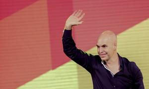 Horacio Rodríguez Larreta, candidat de la conservadora Proposta Republicana, celebra la seva victòria.